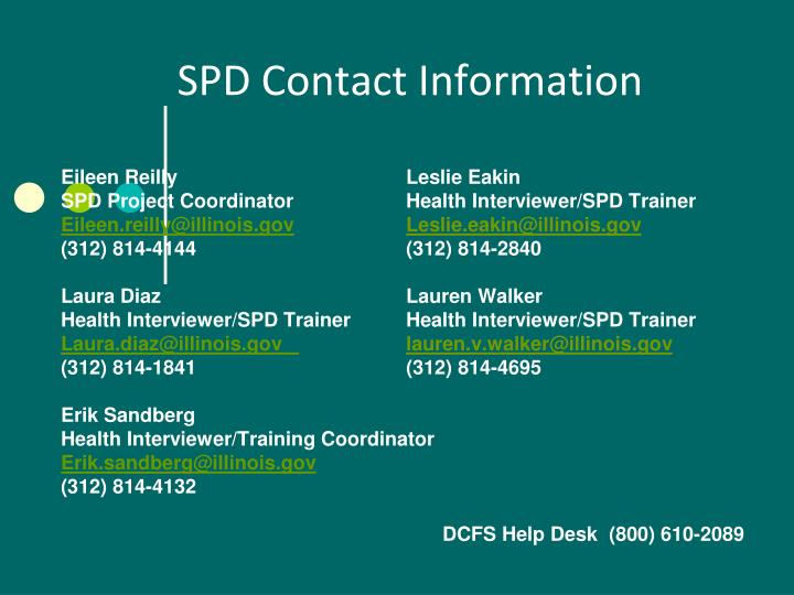 SPD Contact Information