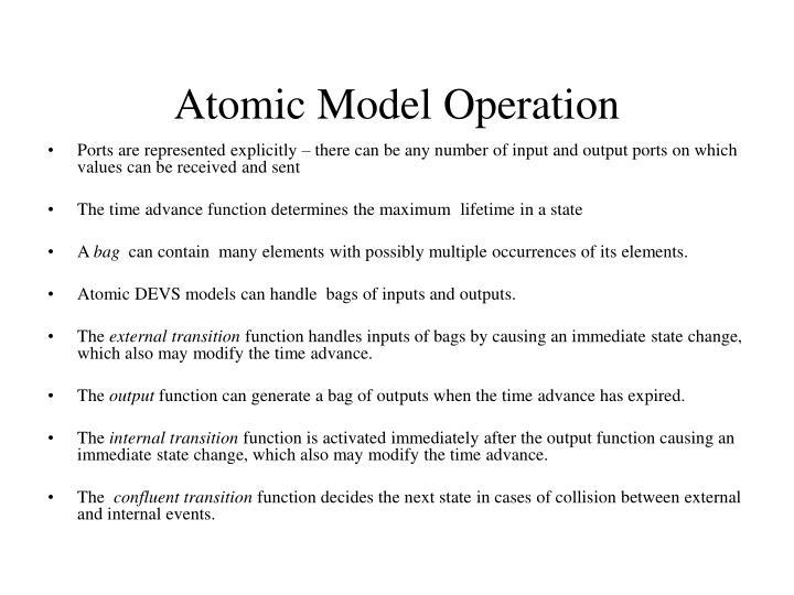 Atomic Model Operation