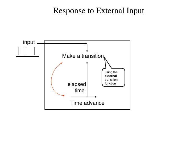 Response to External Input