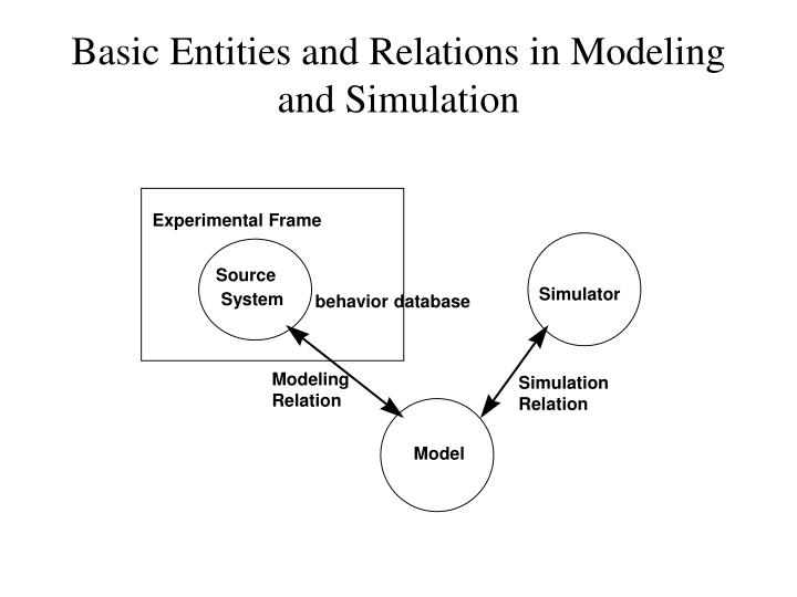 Basic Entities and Relations in Modeling and Simulation