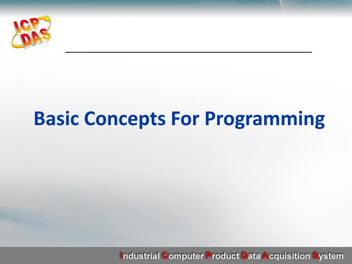 Basic Concepts For Programming