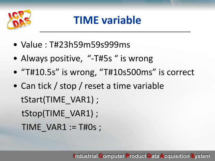 TIME variable