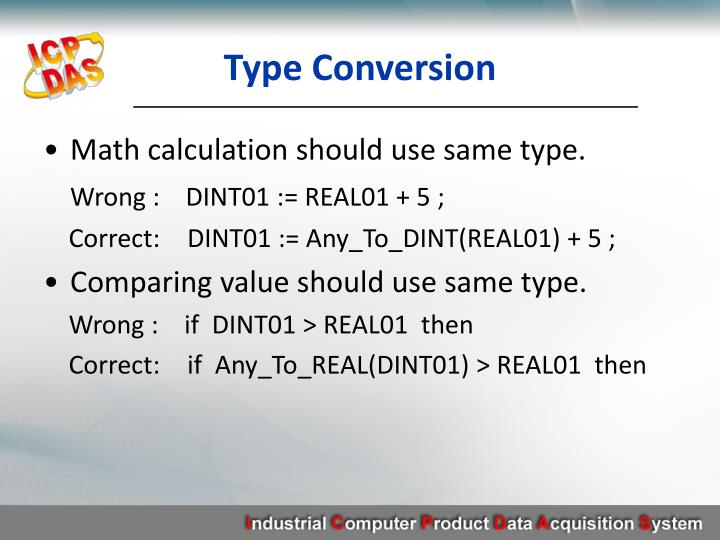 Type Conversion
