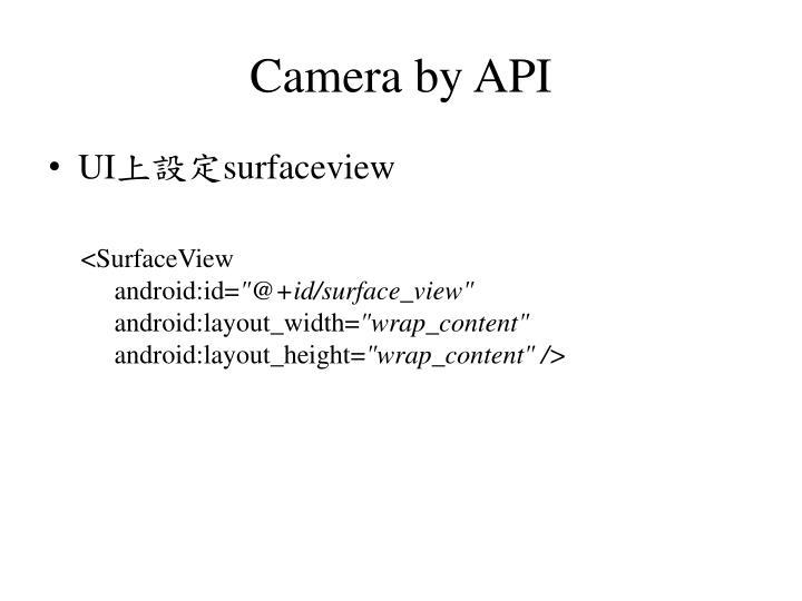 Camera by API