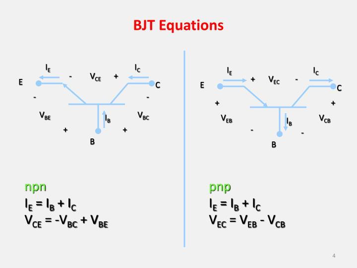BJT Equations