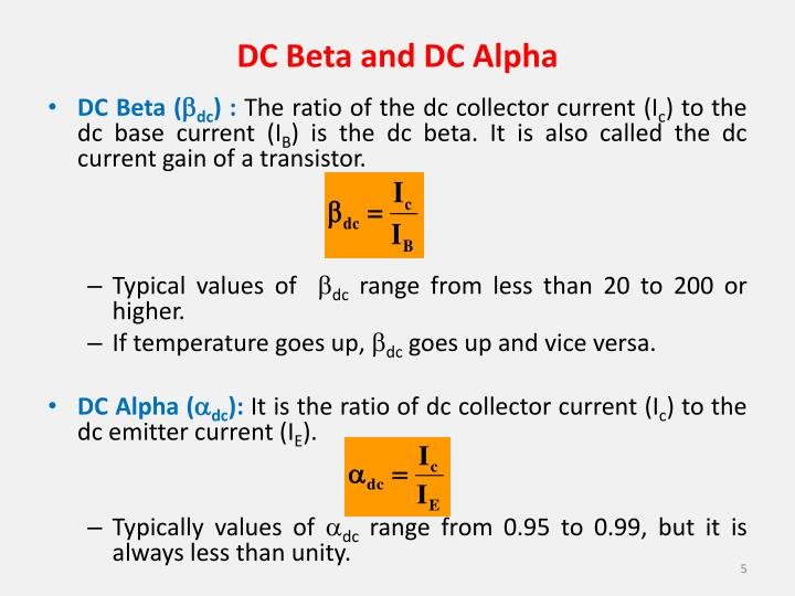 DC Beta and DC Alpha