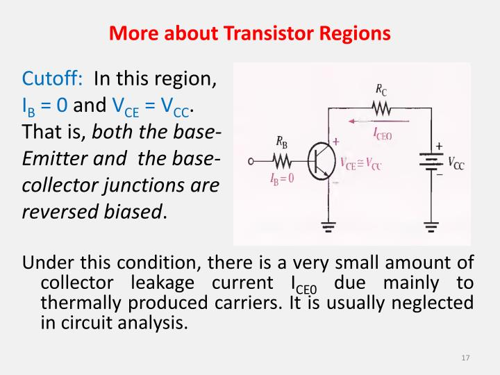 More about Transistor Regions