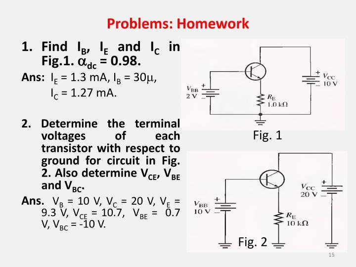 Problems: Homework