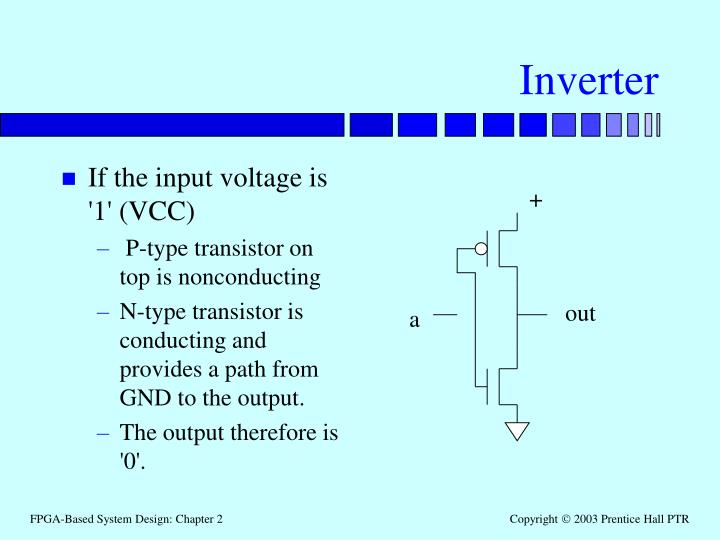 If the input voltage is '1' (VCC)