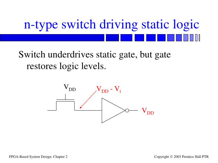 n-type switch driving static logic