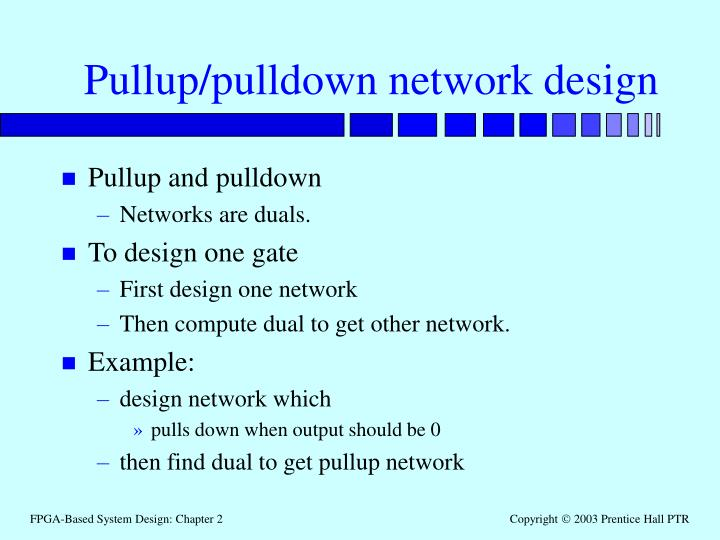 Pullup/pulldown network design