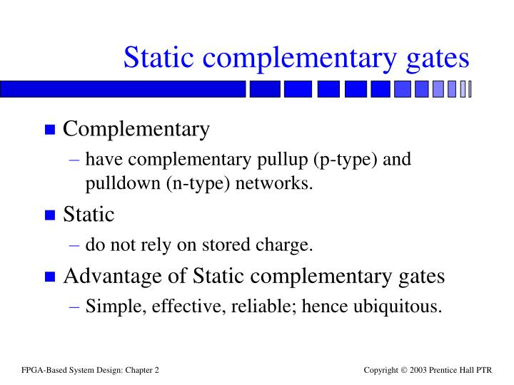 Static complementary gates
