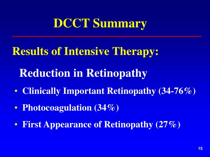 DCCT Summary