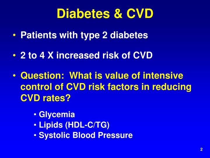 Diabetes & CVD