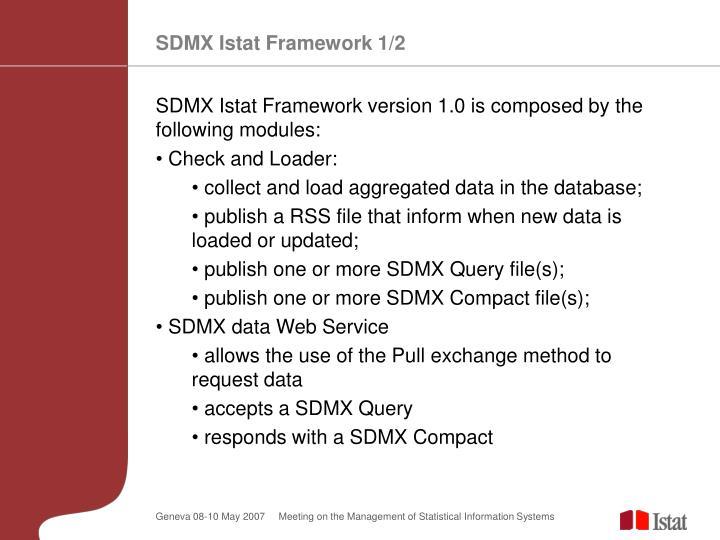 SDMX Istat Framework 1/2