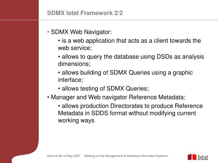 SDMX Istat Framework 2/2