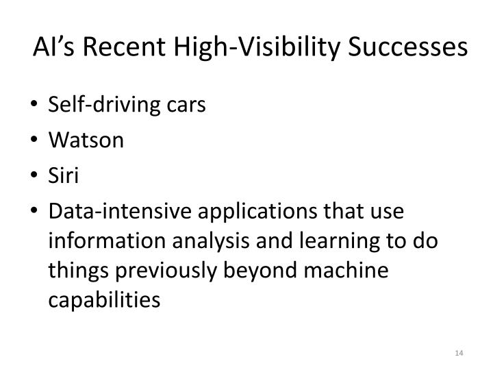AI's Recent High-Visibility Successes