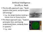 artificial intelligence scruffy vs neat