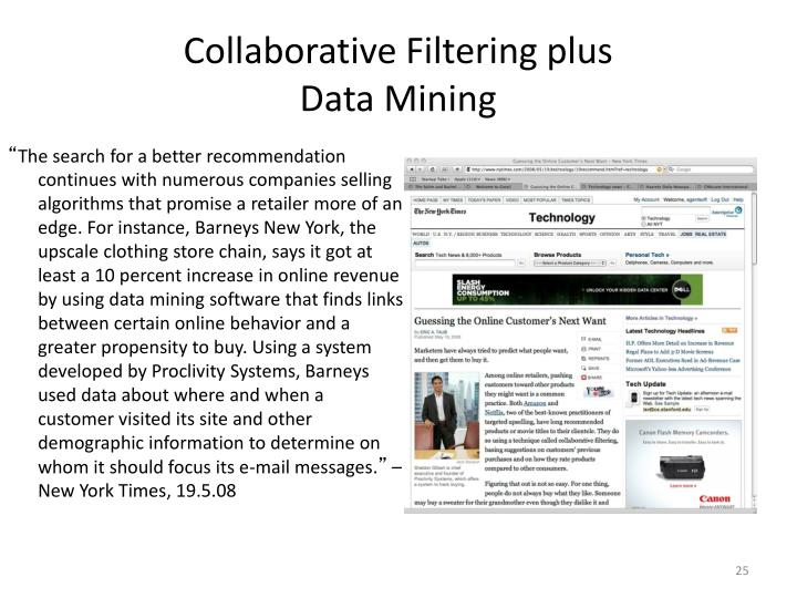 Collaborative Filtering plus