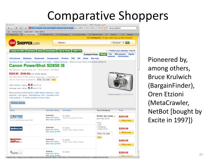 Comparative Shoppers