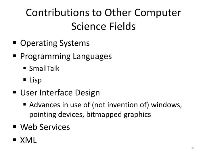 Contributions to Other Computer Science Fields