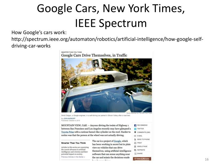 Google Cars, New York Times,