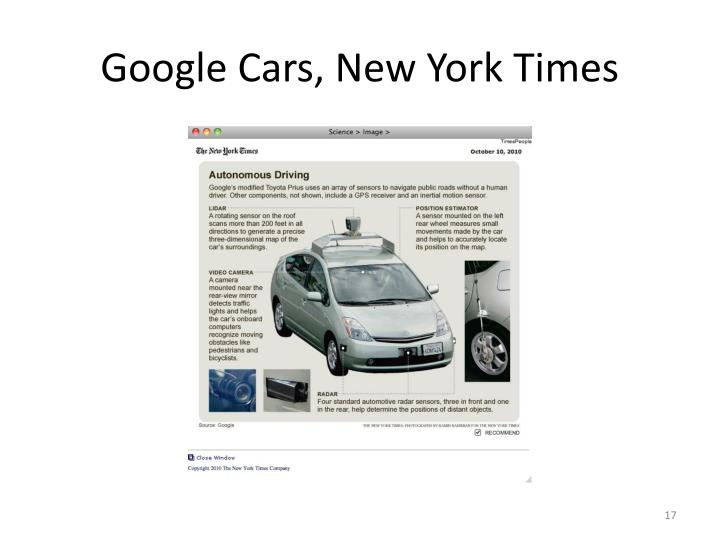 Google Cars, New York Times