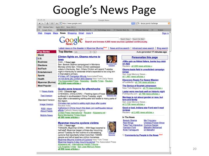 Google's News Page