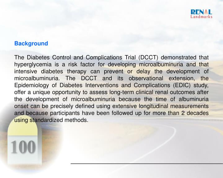 PPT - Figure 1 The DCCT–EDIC study demonstrates that a ...