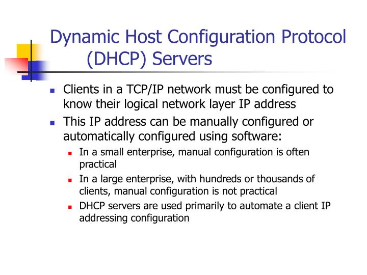 Dynamic Host Configuration Protocol (DHCP) Servers