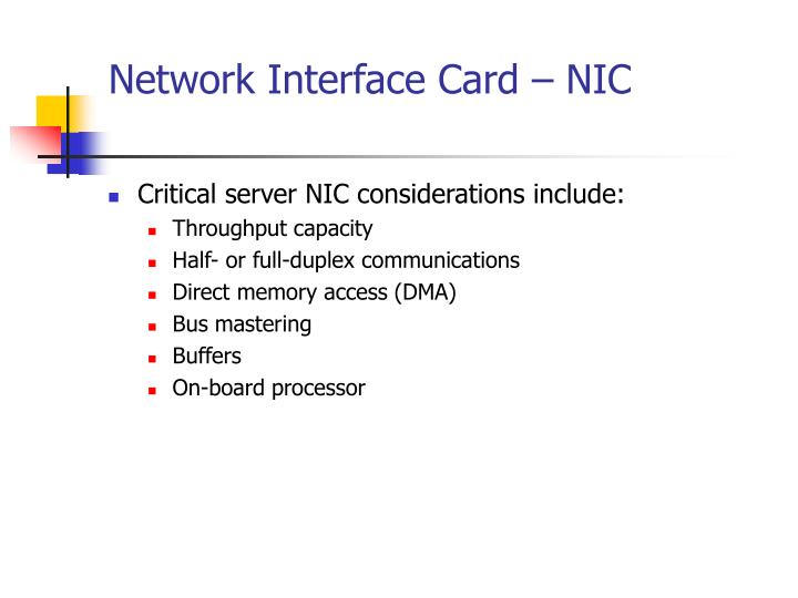 Network Interface Card – NIC