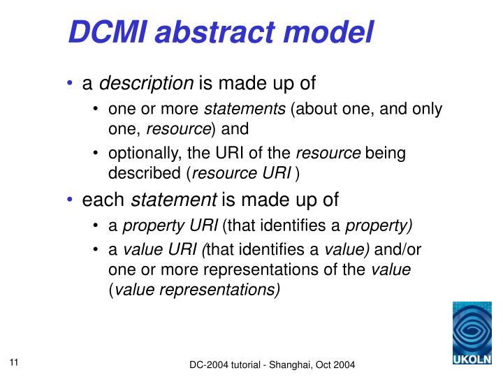 DCMI abstract model