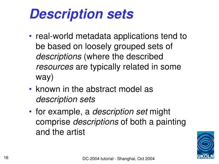 Description sets