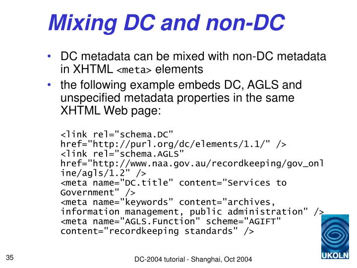 Mixing DC and non-DC