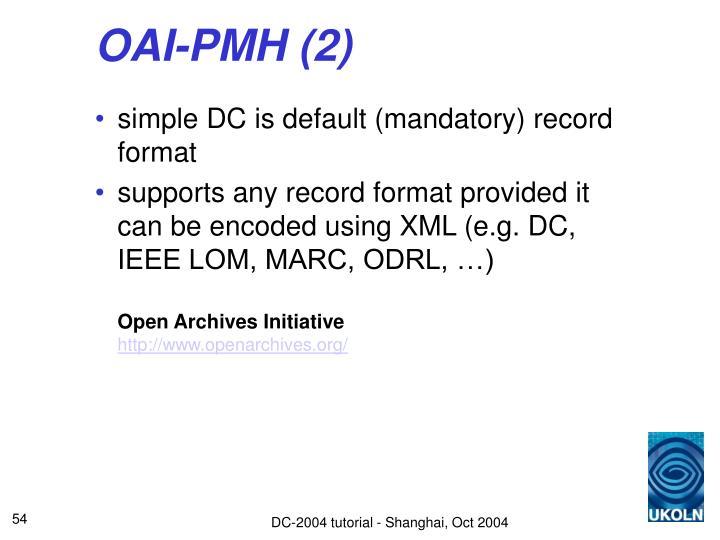 OAI-PMH (2)