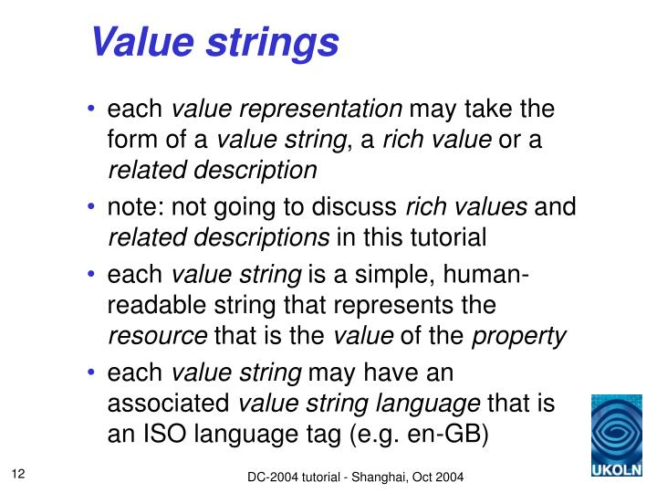 Value strings
