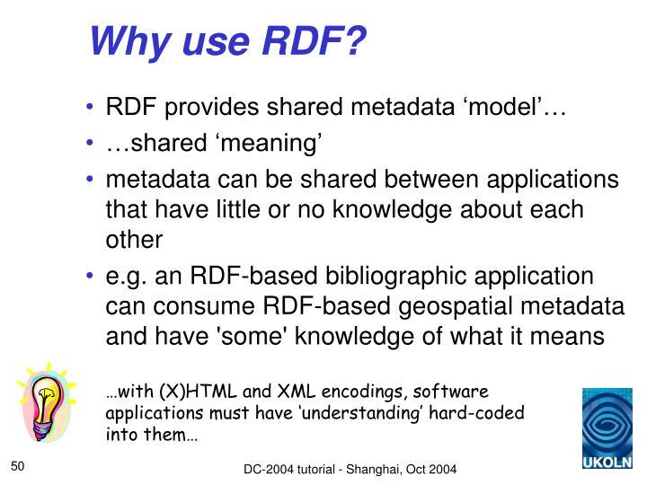 Why use RDF?