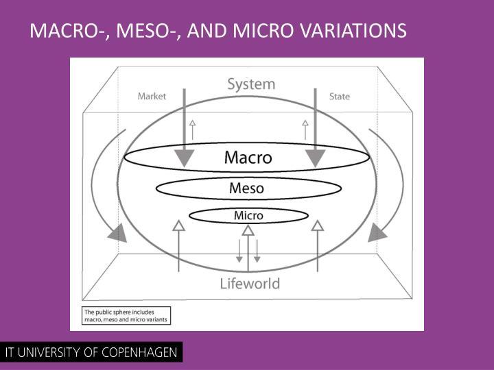 MACRO-, MESO-, AND MICRO VARIATIONS