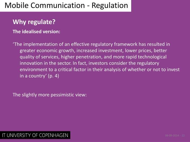 Mobile Communication - Regulation
