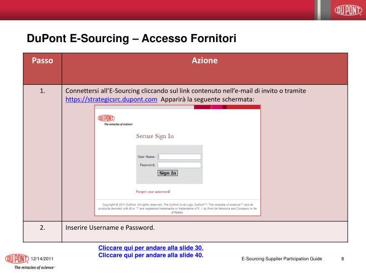 DuPont E-Sourcing – Accesso Fornitori
