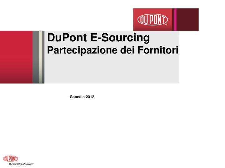 DuPont E-Sourcing
