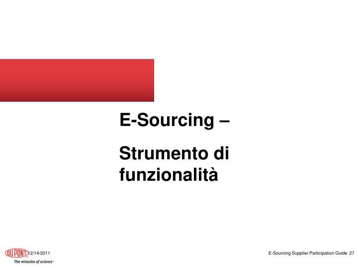 E-Sourcing –