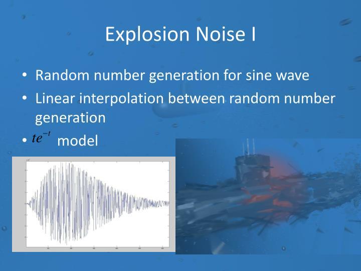Explosion Noise I