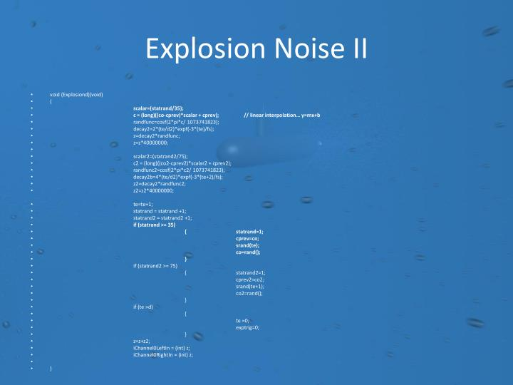 Explosion Noise II