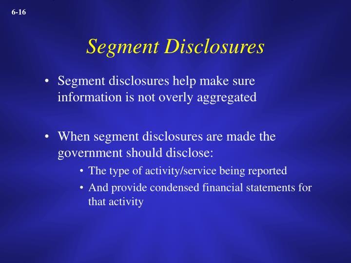 Segment Disclosures