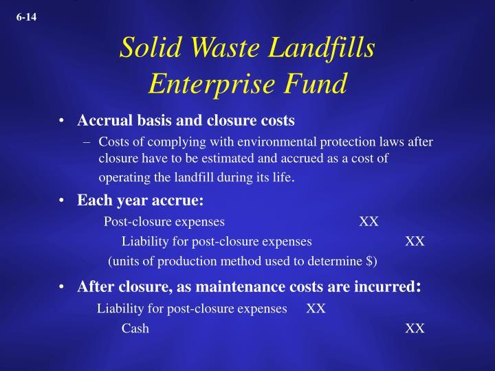 Solid Waste Landfills