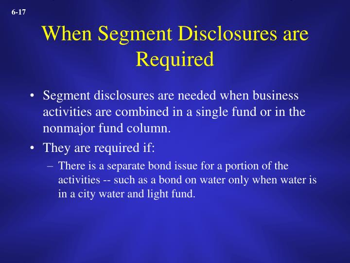 When Segment Disclosures are Required
