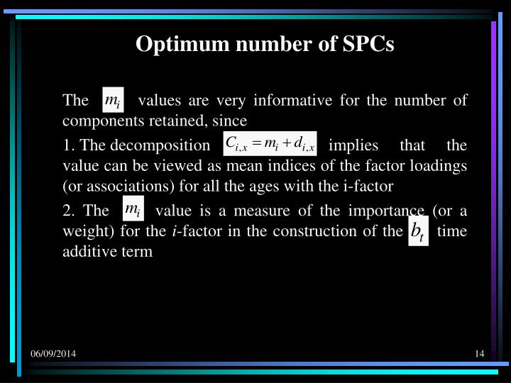 Optimum number of