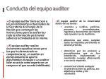 conducta del equipo auditor1
