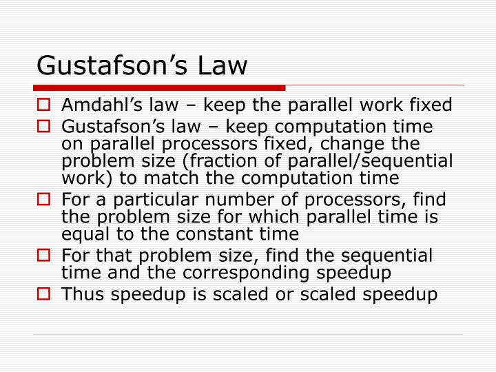 Gustafson's Law